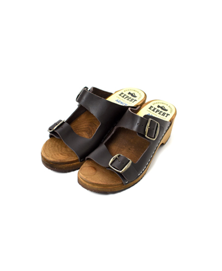 ANEP1801 REGULAR HEEL DOUBLE BUCKLE SANDAL
