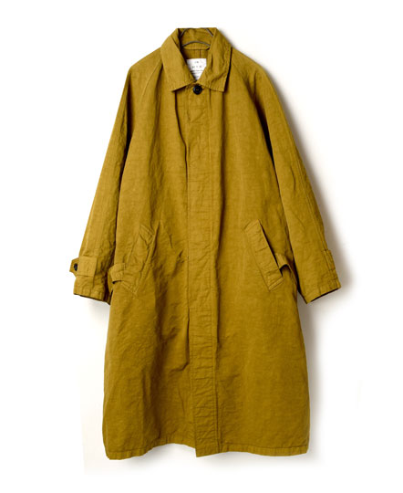 NHT1711CL COTTON LINEN BALMACAAN COAT WITH BELT
