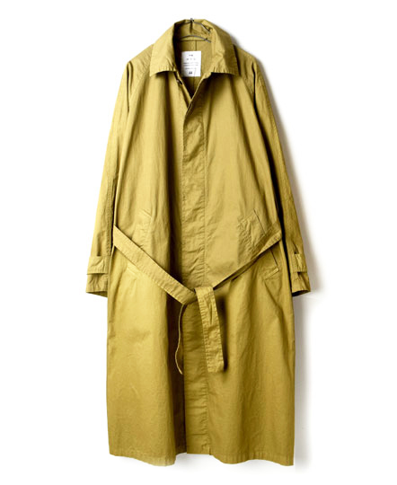NHT1801 COTTON TWILL BALMACAAN COAT WITH BELT
