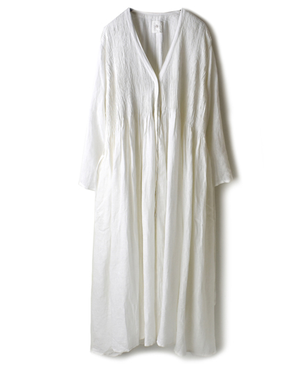 NMDS19013 POWER LOOM LINEN PLAIN WRAP DRESS