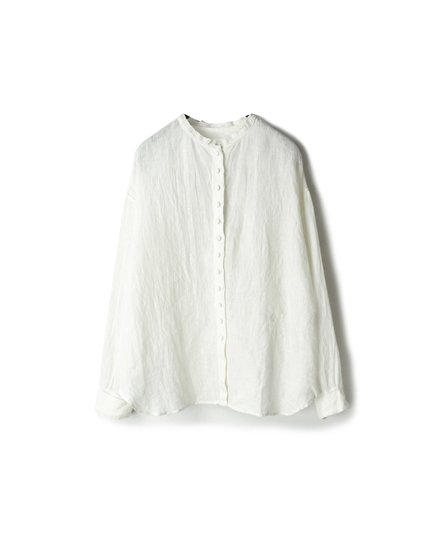 NMDS18001 POWER LOOM LINEN LACE BUTTON SHIRT