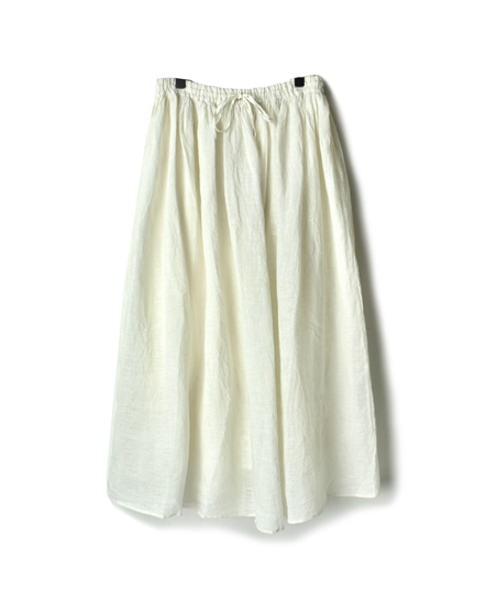 NMDS18005 LINEN RAJASTHAN TUCK GATHERED SKIRT