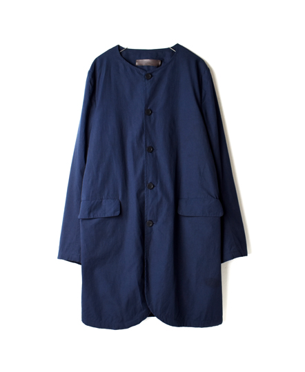 NVL1752 ORGANIC POPLIN NO COLLAR COAT