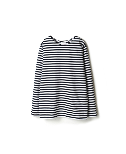 NBL1701N NARROW  STRIPE L/SL BASQUE SHIRT