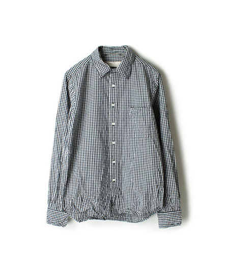 NVL1161CW GINGHAM CHECK REGULAR COLLAR SHIRT