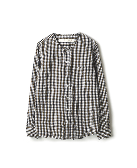 NVL1561CW GINGHAM CHECK CREW-NECK L/SL SHIRTS
