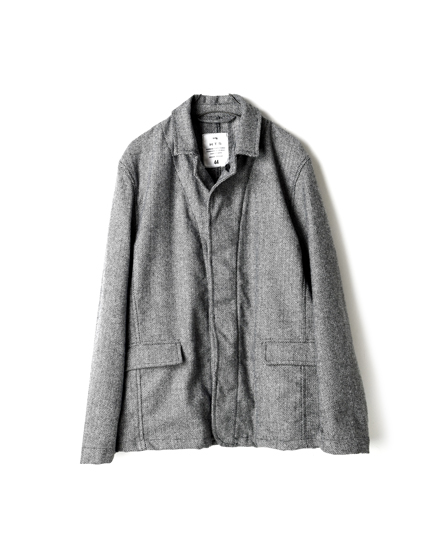 NHT1852WH WOOL HERRINGBONE JACKET