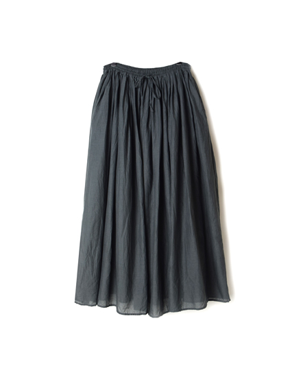 NSL19535 COTTON VOILE GATHERED SKIRT
