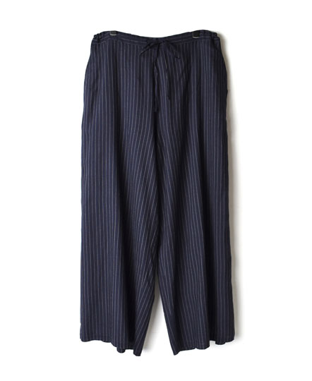 INMDS17815 WOOL/SILK STRIPE EASY PANTS