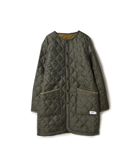 NAM1651 PLAIN HEAT QUILT NO COLLAR COAT