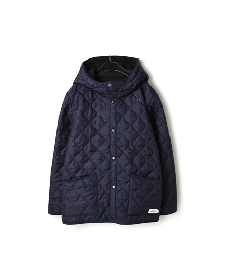 NAM1752 PLAIN HEAT QUILT REVERSIBLE HOODED JKT