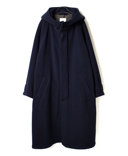 NHT1752WD WOOL DOUBLE FACE HOODED COAT LONG LENGTH