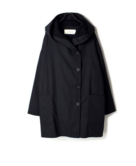 NSL17501 ORGANIC POPLIN HOODED COAT