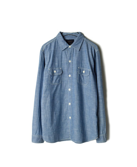 GNMS1601 SELVAGE CHAMBRAY L/SLEEVE SHIRTS