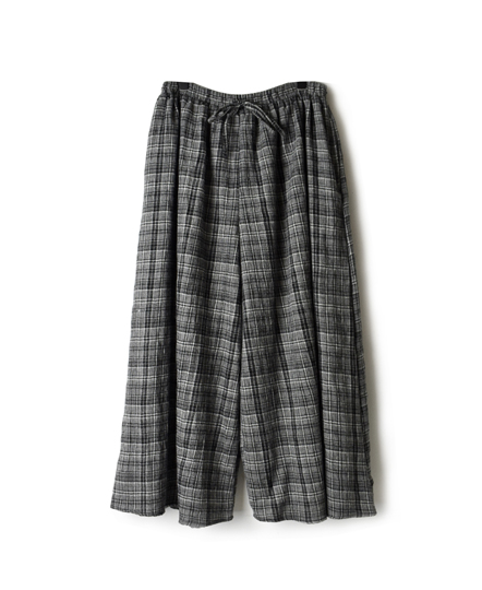 NMDS17514 BOILED WOOL CHECK CULOTTES