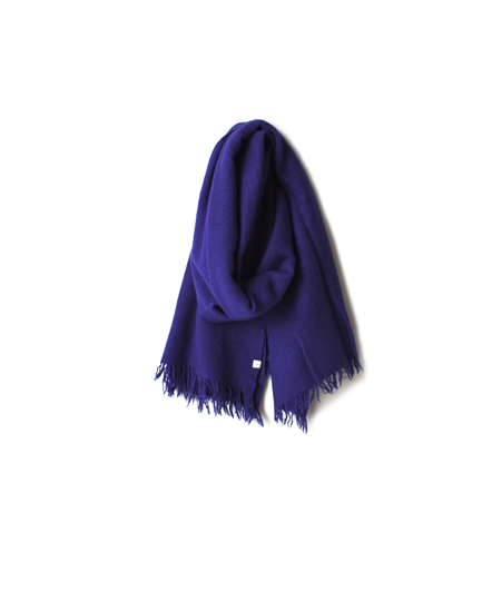 NSL17601 MELANGE BOILED WOOL PLAIN STOLE