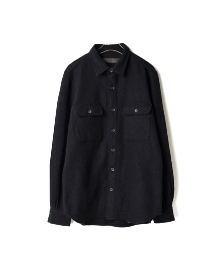 NVL1771 BOILED WOOL CPO SHIRT