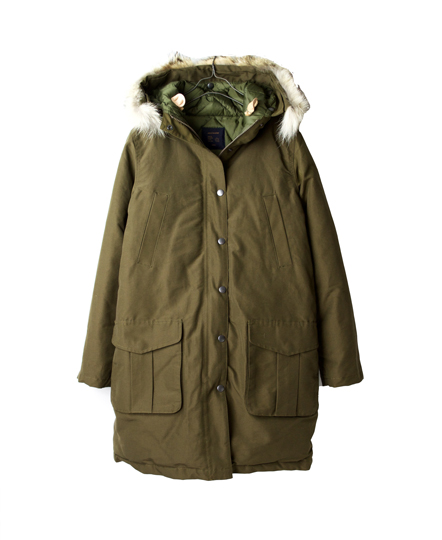 GMSU0862 LADIES HOODED COAT WITH DOWN LINING