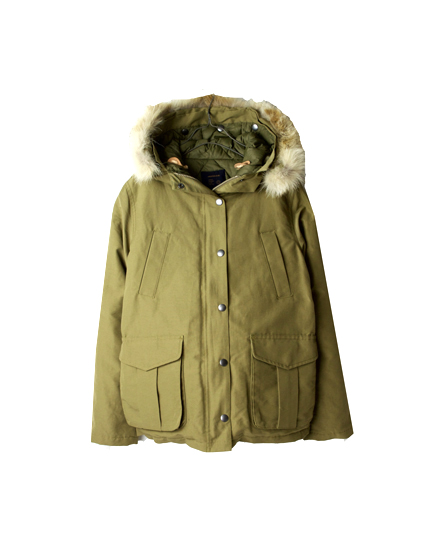 GMSU1151 HOODED JACKET WITH DOWN LINING