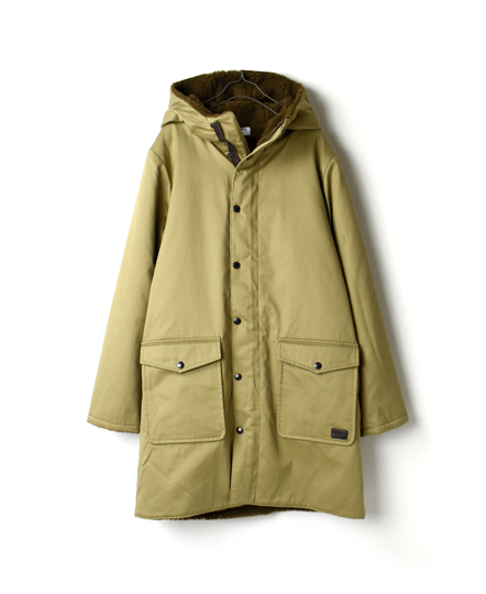 NAM1673 HOODED COAT WITH FLEECE LINING